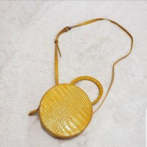 "Handbags - ""Sunshine"" Yellow Croc CrossBody Bag NWOT"